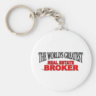 The World's Greatest Real Estate Broker Basic Round Button Keychain