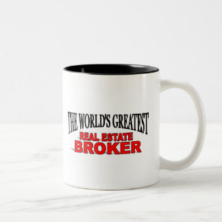 The World's Greatest Real Estate Broker Two-Tone Coffee Mug