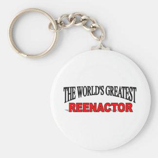 The World's Greatest Reenactor Basic Round Button Keychain
