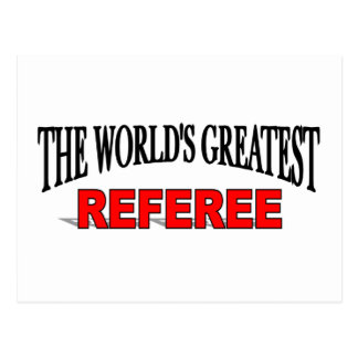 The World's Greatest Referee Postcard