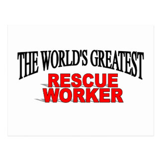The World's Greatest Rescue Worker Postcard