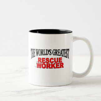 The World's Greatest Rescue Worker Two-Tone Coffee Mug