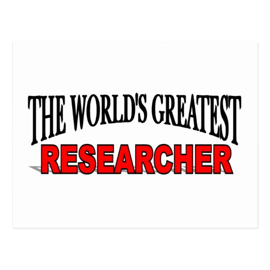 The World's Greatest Researcher Postcard