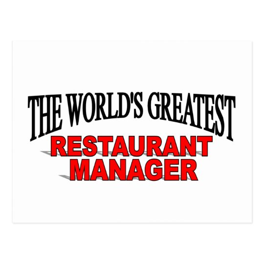 The World's Greatest Restaurant Manager Postcard