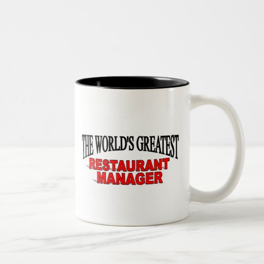 The World's Greatest Restaurant Manager Two-Tone Coffee Mug