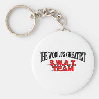 The World's Greatest S.W.A.T. Team Basic Round Button Keychain