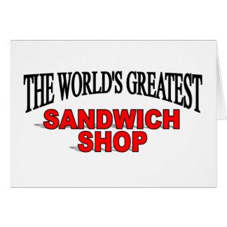 The World's Greatest Sandwich Shop Card