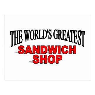 The World's Greatest Sandwich Shop Postcard