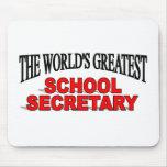 The World's Greatest School Secretary Mouse Pad