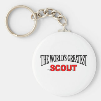 The World's Greatest Scout Basic Round Button Keychain