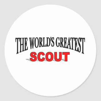The World's Greatest Scout Classic Round Sticker