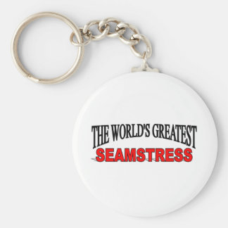 The World's Greatest Seamstress Basic Round Button Keychain