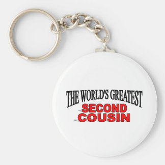 The World's Greatest Second Cousin Keychain