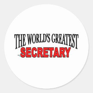 The World's Greatest Secretary Sticker