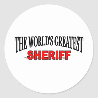 The World's Greatest Sheriff Classic Round Sticker