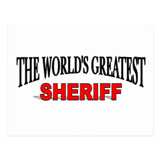 The World's Greatest Sheriff Postcard