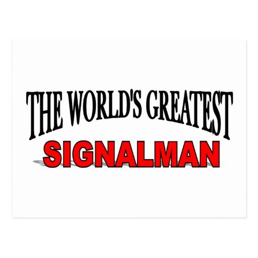 The World's Greatest Signalman Postcard