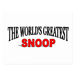 The World's Greatest Snoop Postcard