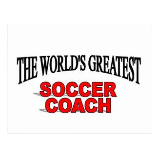 The World's Greatest Soccer Coach Postcard
