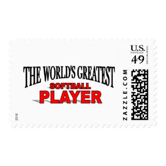 The World's Greatest Softball Player Postage Stamp