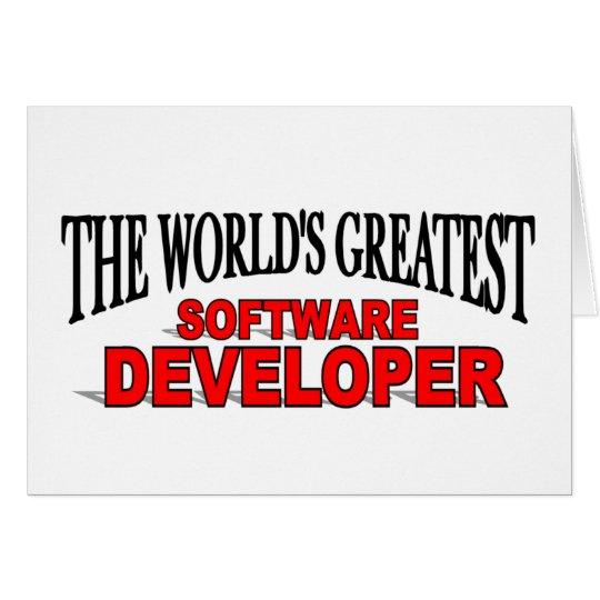The World's Greatest Software Developer Card