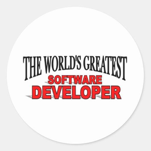 The World's Greatest Software Developer Classic Round Sticker