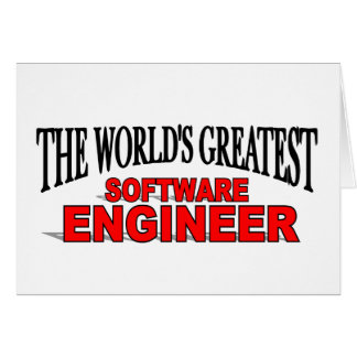 The World's Greatest Software Engineer Card