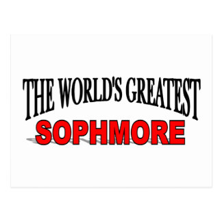 The World's Greatest Sophmore Postcard