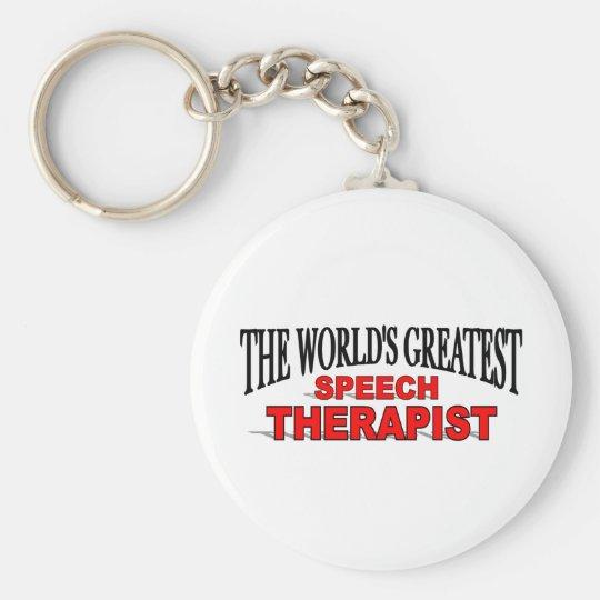 The World's Greatest Speech Therapist Keychain