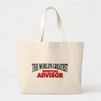 The World's Greatest Spiritual Advisor Tote Bags