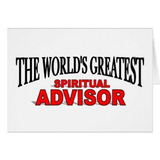 The World's Greatest Spiritual Advisor Greeting Cards
