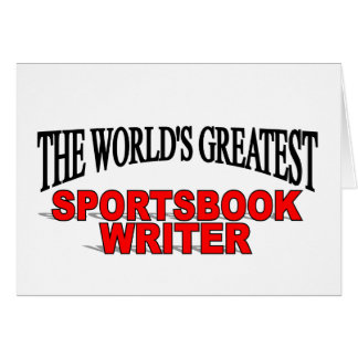 The World's Greatest Sportsbook Writer Card