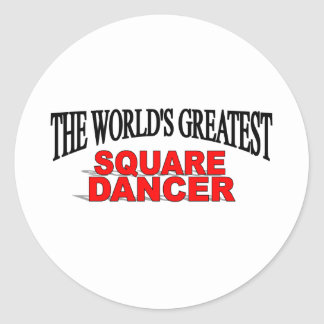 The World's Greatest Square Dancer Classic Round Sticker
