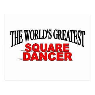 The World's Greatest Square Dancer Postcard