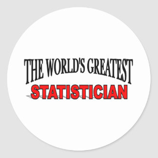 The World's Greatest Statistician Classic Round Sticker