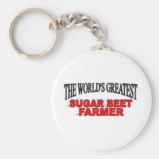 The World's Greatest Sugar Beet Farmer Basic Round Button Keychain