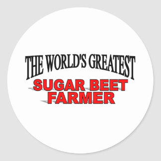 The World's Greatest Sugar Beet Farmer Classic Round Sticker