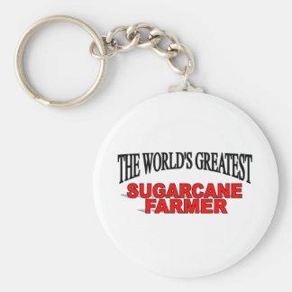 The World's Greatest Sugarcane Farmer Basic Round Button Keychain
