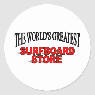 The World's Greatest Surf Board Store Classic Round Sticker