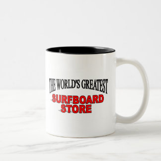 The World's Greatest Surf Board Store Two-Tone Coffee Mug