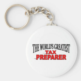 The World's Greatest Tax Preparer Basic Round Button Keychain