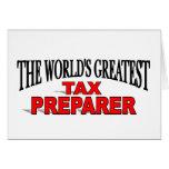 The World's Greatest Tax Preparer Card