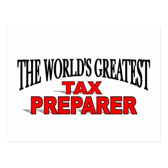 The World's Greatest Tax Preparer Postcard