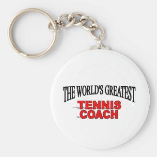 The World's Greatest Tennis Coach Keychain
