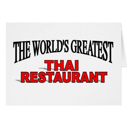 The World's Greatest Thai Restaurant Card