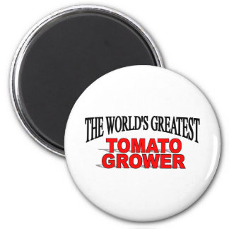 The World's Greatest Tomato Grower 2 Inch Round Magnet