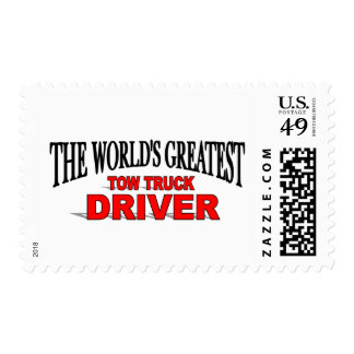 The World's Greatest Tow Truck Driver Postage Stamp