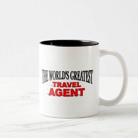 The World's Greatest Travel Agent Two-Tone Coffee Mug