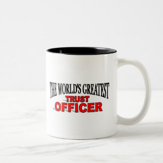 The World's Greatest Trust Officer Two-Tone Coffee Mug