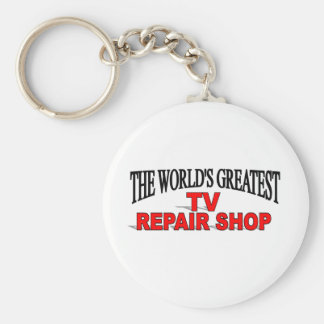 The World's Greatest TV Repair Shop Basic Round Button Keychain